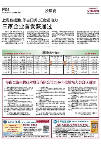 海南金港生物技术股份有限公司2016年度股东大会会议通知